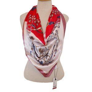 Stories of Shanghai Polyester Square Scarf NWT